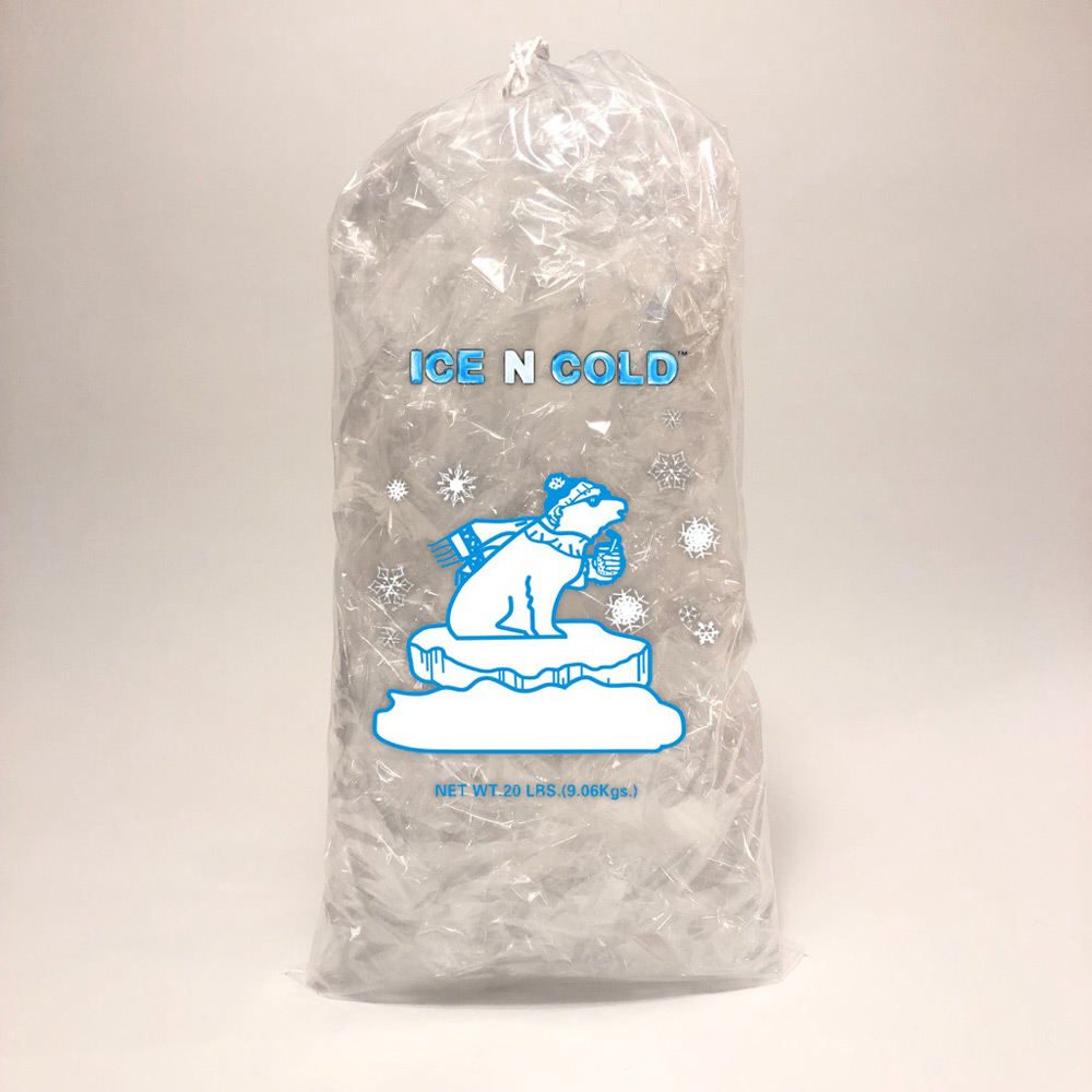 Drawstring Ice Bag - 20 lbs